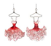 """Декоративное изделие """"Платье"""" красное 10*4 см,высота=10см"""