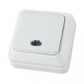 Выключатель 1-кл белый Ладога с подсветкой
