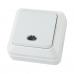 """Выключатель 1-кл. открытой установки с подсветкой IP20 10А, белый """"Ладога"""" TDM (27455)"""