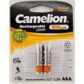 Элемент пит.Camelion Аккумулятор R3 (AAA)-600mAh Ni-Mh BL2 (19015)  1шт
