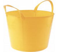 Ведро гибкое СИБРТЕХ сверхпрочное 14л желтое