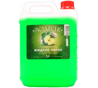 Жидкое мыло прозрач 5л Зеленое Яблоко/персик Зодиак/Лесные ягоды