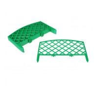 Забор садовый декор 24х320см Плетенка Зеленый/Терракот